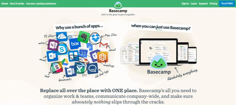 Basecamp header