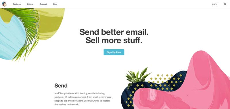 Mailchimp header