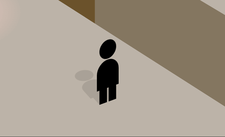 The first of two characters to animate through the scene