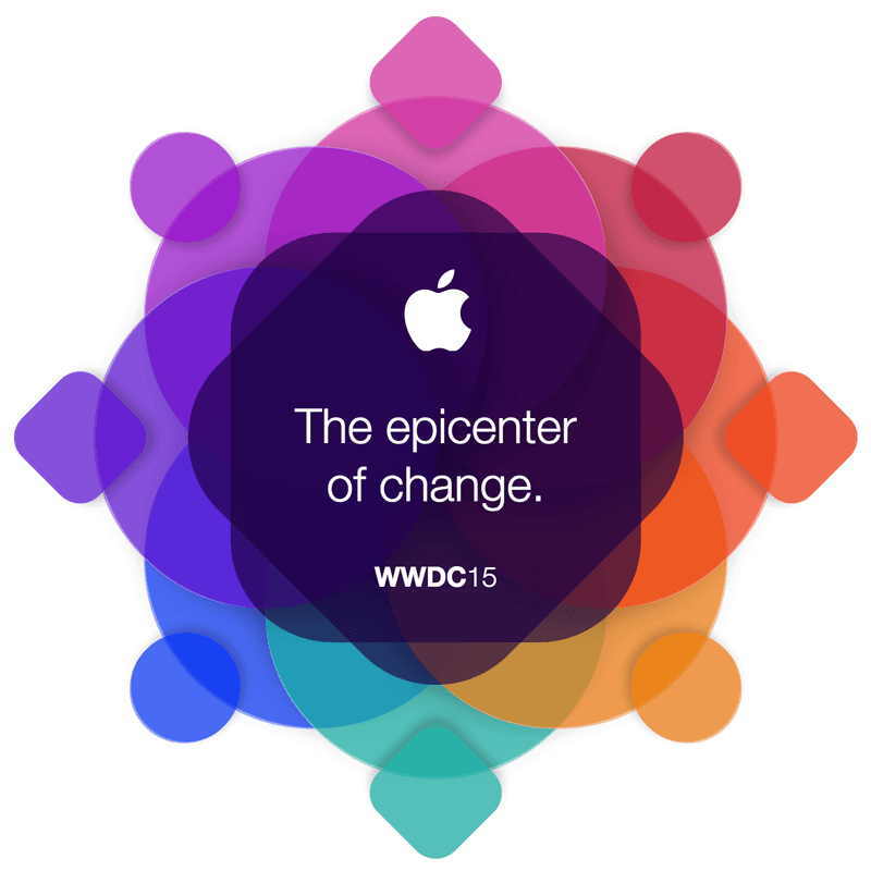 Finished WWDC invitation graphic